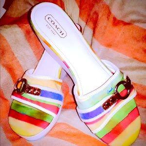 Coach Fionah Wedge Heel Platform Sandals - Size 11